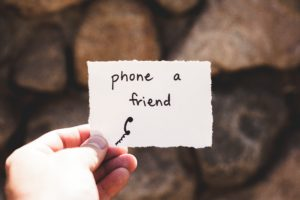 note from book counselor to an addict to phone a friend