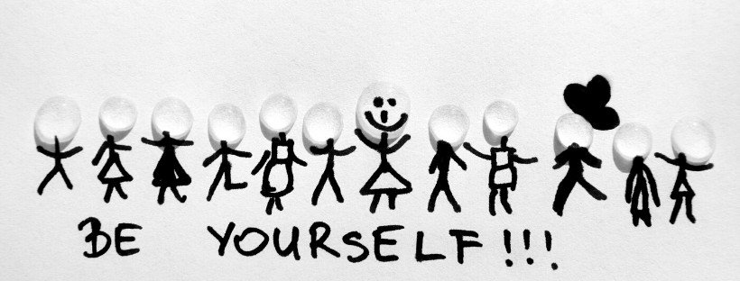 be yourself under stick figures