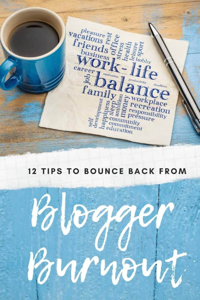 how to bounce back from blogger burnout