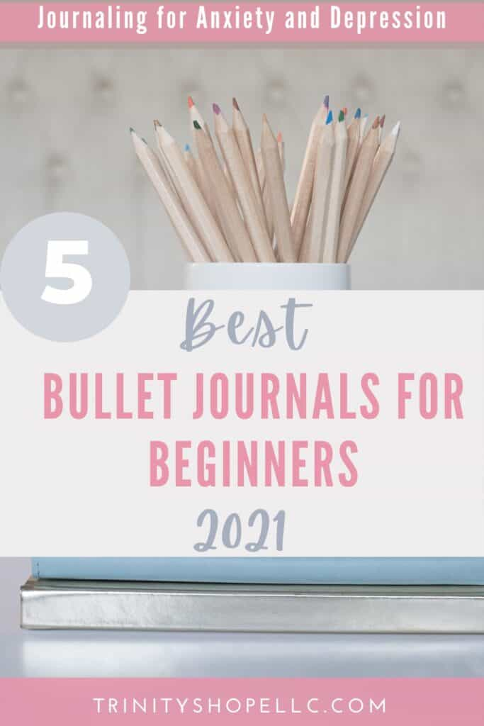 best bullet journals for beginners underneath cup of pencils
