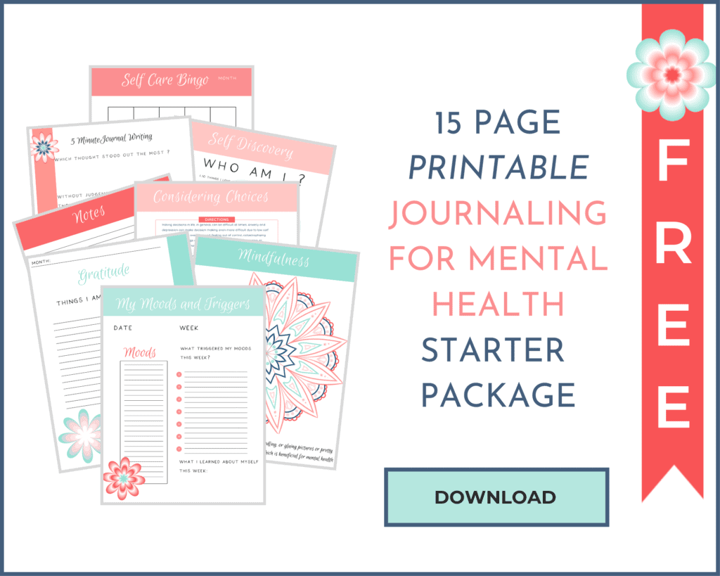 JOURNALING FOR MENTAL HEALTH PRINTABLE MOCKUp