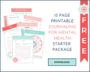 JOURNALING FOR MENTAL HEALTH PRINTABLE MOCKUO