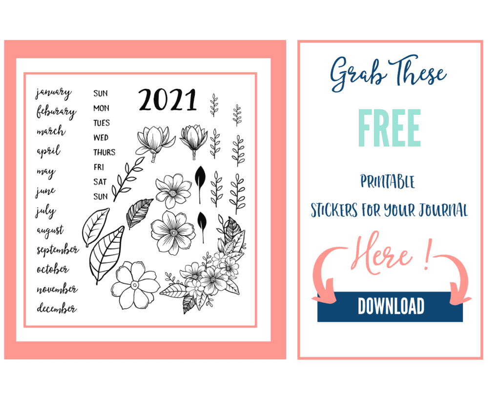 bullet journal stickers download mockup
