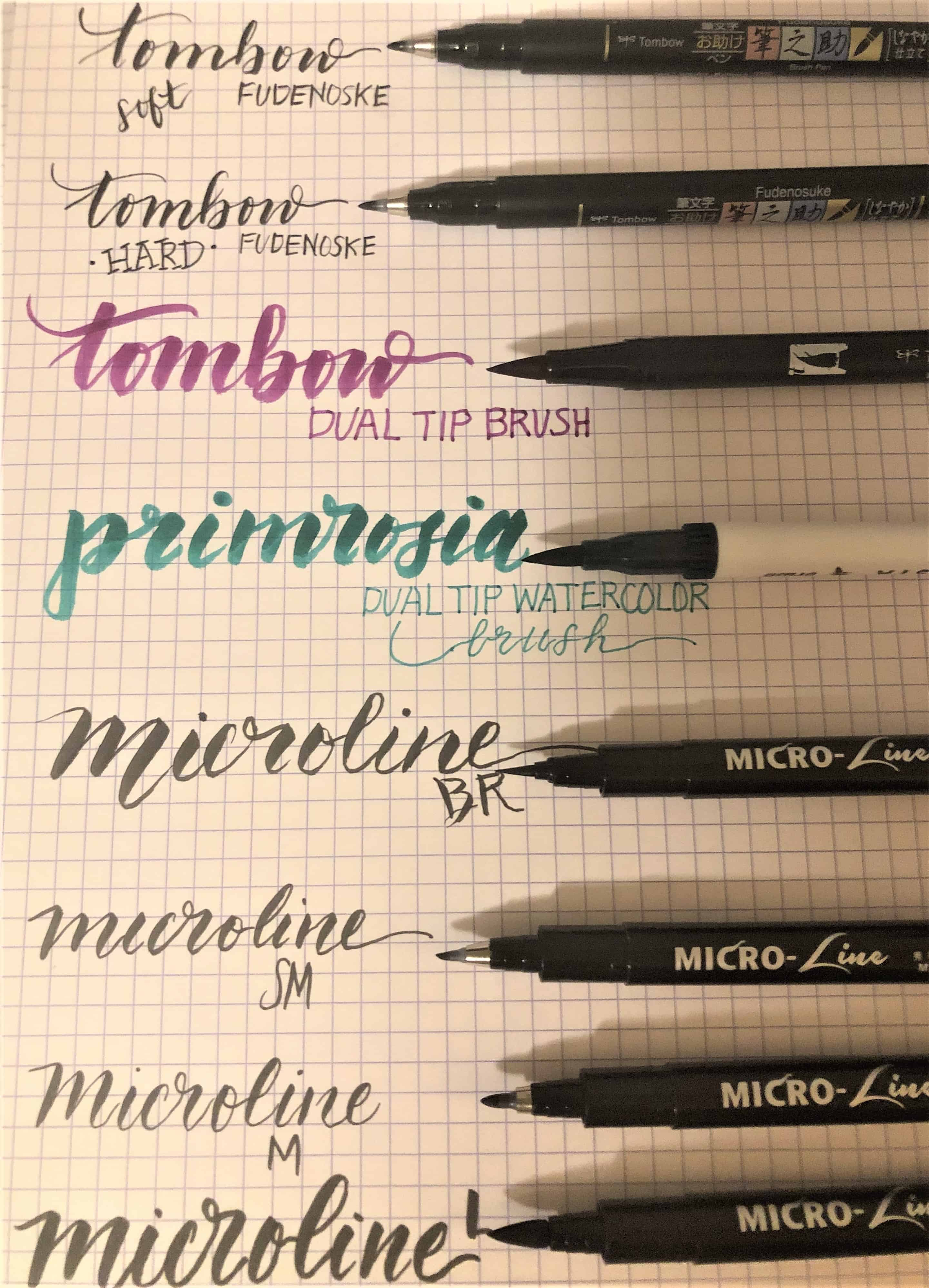 best-brush-pens-for-journaling-samples