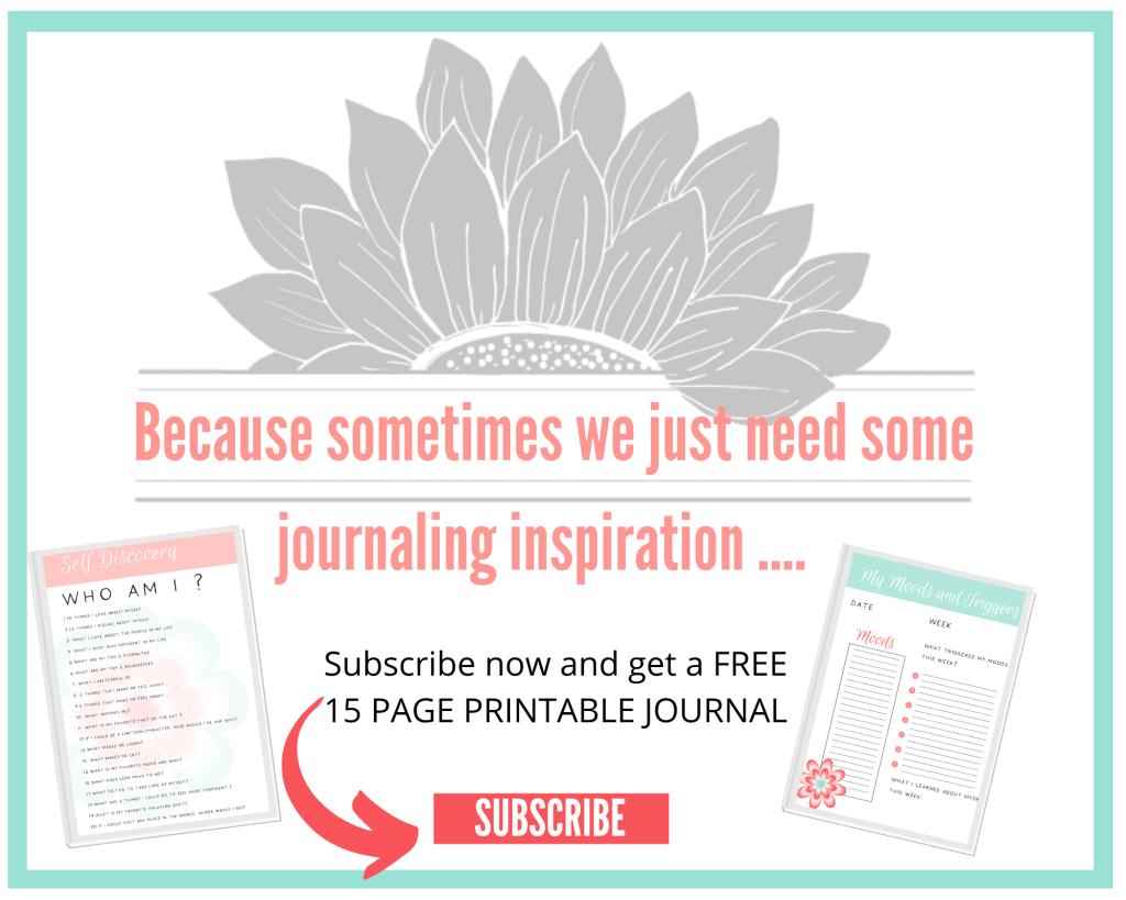 self love journaling for mental health journal pages pdf mockup