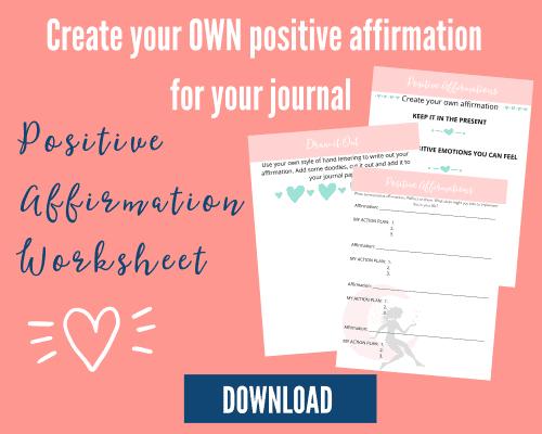 positive affirmation worksheet pdf download mockup